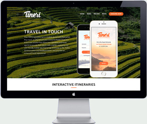 tineri app - travel website design south east asia