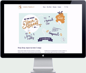 website design hurly burly - graphic design agency