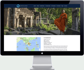 ground asia - website design travel organization Thailand