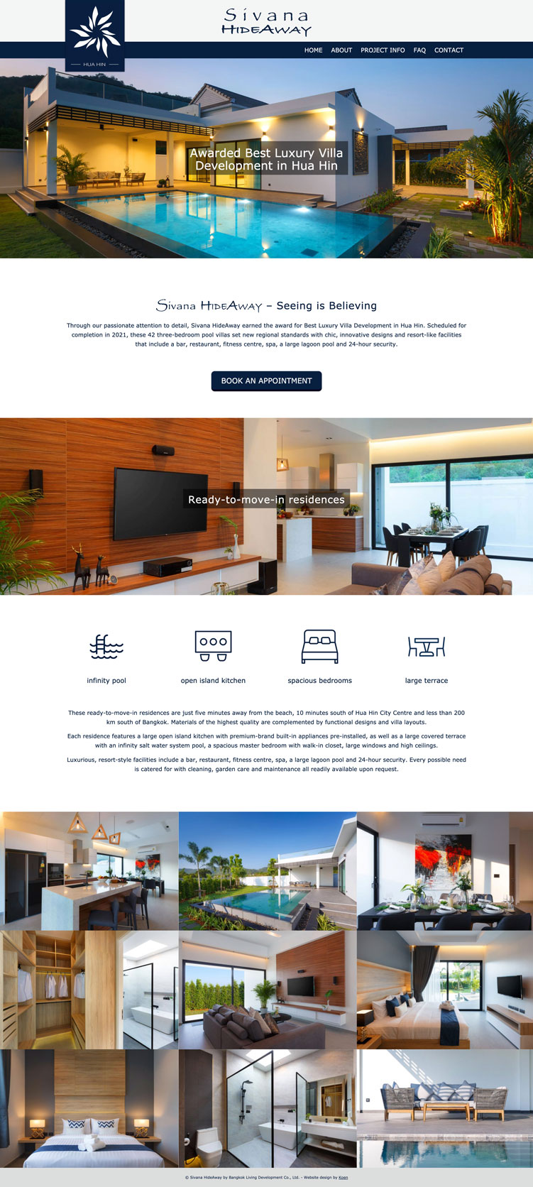 hua hin property website design