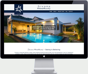 hua hin thailand villas website design