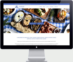 greek restaurant bangkok website design