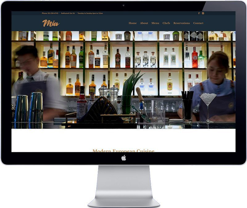 restaurant in bangkok website design