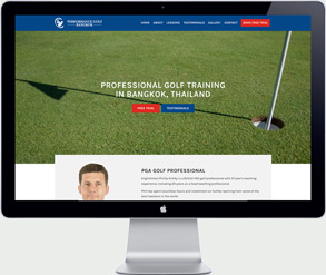 golf training website thailand